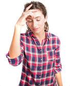 Young girl meditating — Stock Photo