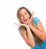 Surprised girl posing — Stock Photo