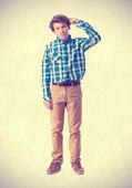 Young boy not understanding gesture — Stock Photo