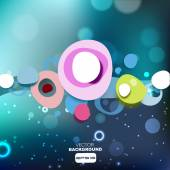 Abstract cloud bubbles background — Stock Vector