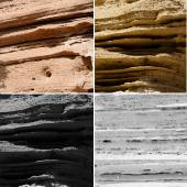 Group of strata stones texture — Stock Photo