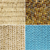 Group of basket textures — Stock Photo