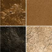 Group of ground textures — Stock Photo