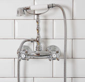 Vintage shower and tap — Stock Photo
