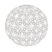 Herald pattern ball — Stock Vector