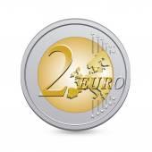 Two euro coin — Stock Vector