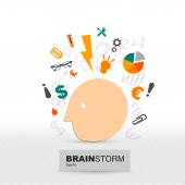 Brainstorming — Stock Vector