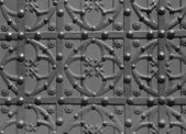 Steel old door texture — Stock Photo