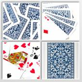Poker card close ups — Stock Photo