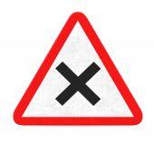 X  danger road sign — Stock Photo