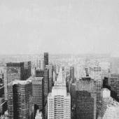 New york skyscrapers hand drawn effect — Stock Photo
