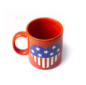 Cup with US flag — Stock Photo