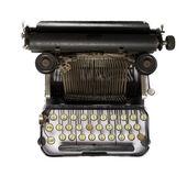 Black retro typewriter — Stock Photo