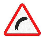 Right curve road sign — Stockfoto