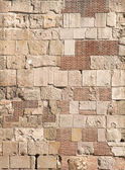 Stacked stones wall — Stock Photo