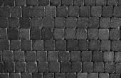 Black stones tiled floor — Stock Photo