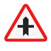 Crossroad road sign — Stock Photo