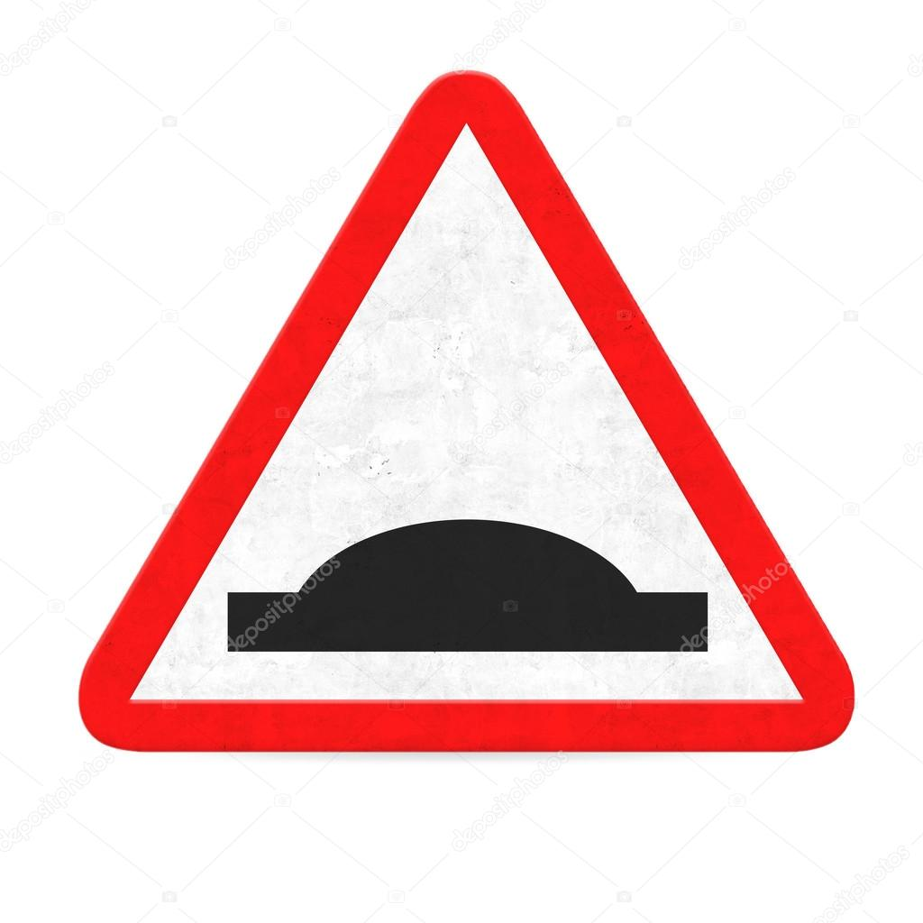 panneau de signalisation danger bosse photographie kues 68399051. Black Bedroom Furniture Sets. Home Design Ideas