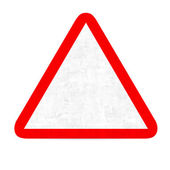 Empty danger road sign — Stock Photo