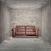 Vintage room and sofa — Stock Photo