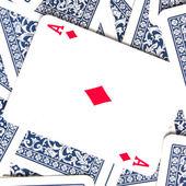 Poker als kaart — Stockfoto