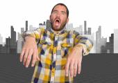 Young man zombie gesture — Stock Photo