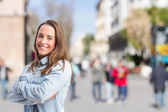 Young smiling girl — Stock Photo