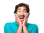 Surprised young man — Stock Photo