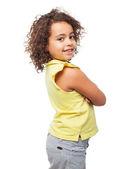 Черная девушка удовлетворены — Стоковое фото