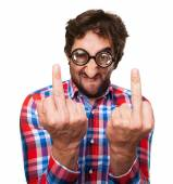 Crazy angry man — Stock Photo