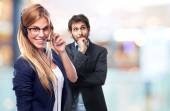 Young cool woman secretary concept — Stock Photo