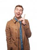 Adult man idea gesture — Stock Photo