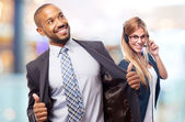 Young cool black man proud concept — Stock Photo