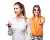 Confused blond woman — Stock Photo