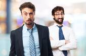 Young crazy businessman poor concept — Stock Photo