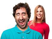 Laughging man — Stok fotoğraf
