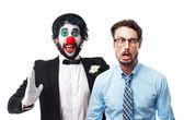 Clown cool man show gesture — Stock Photo