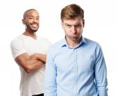 Blond angry man — Stock Photo