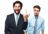 Disagreement businessman gesture — Stock Photo