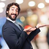 Businessman show gesture — Zdjęcie stockowe