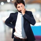 Boring businessman — Stock Photo