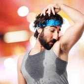 Sportsman sweating — Stock Photo