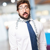 Businessman with a chain — Stock Photo
