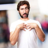 Crazy confused man — Stock Photo