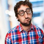 Crazy boring man — Stockfoto