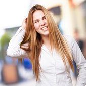 Blond happy woman — Stock Photo