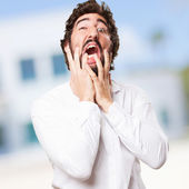 Crazy man crying — Stock Photo