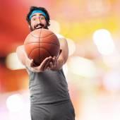 Sportsman with basketball ball — Stock Photo