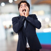 Scared businessman — Stock Photo