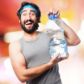 Sportsman with water — Stock Photo
